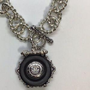 Authentic coco vintage button necklace